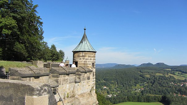 Fortress, Königstein, Sandstone Mountain, Castle