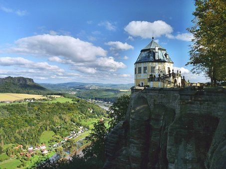 Königstein, Elbe, Fortress, Shipping, Saxon Switzerland