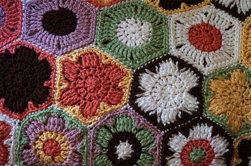 Crocheted Afghan, Crochet, Afghan, Handmade, Brilliant