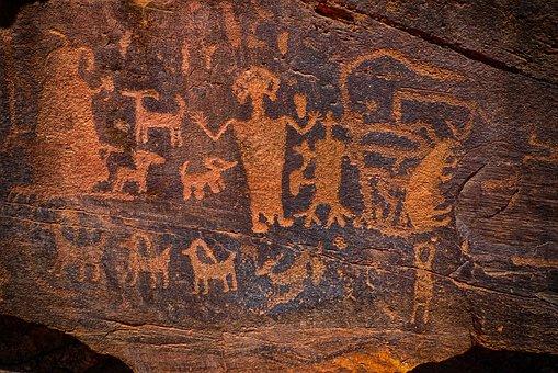Indian Art, Petroglyph, Native American, Ancient