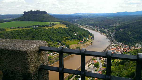 Lily Stone, Panoramic View To The Lilienstein