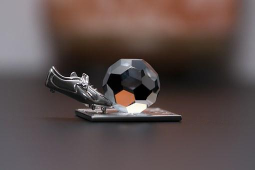 Macro, Closeup, Soccer, Football, Ball, Cleats, Boot