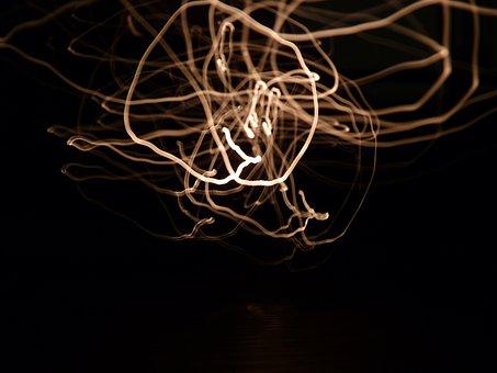 Led, Fiber, Optical, Light, Night, Flame