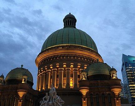 Qvb, Sydney, Queen, Victoria, Australia, Statue, Nsw