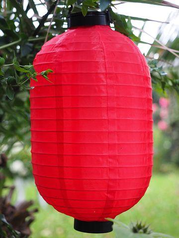 Paper Lantern, Light, Lampion, Red, Garden, Gartendeko