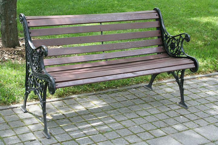 Bench, Park, Nature, Wood, Rest, Garden, Canada, Green