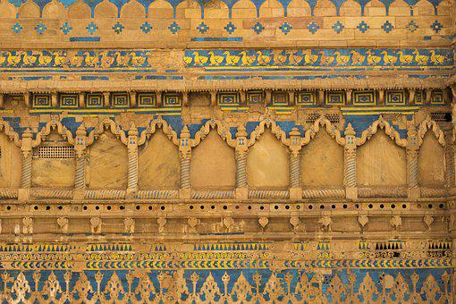 Gwalior, Fort, In, India, Architecture, Stone, Fortress