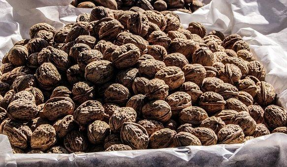 Walnuts, Nuts, Food, Vendors, Cyprus