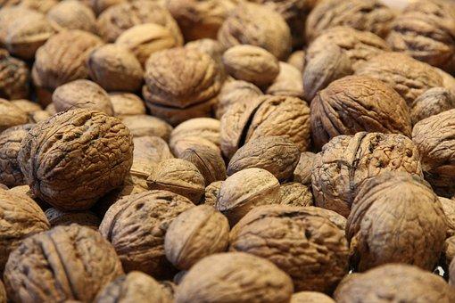Walnuts, Walnut, Nuts, Close
