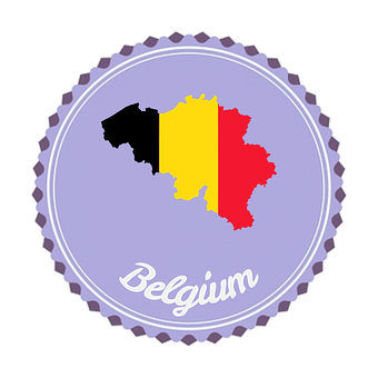 Badge, Flair, Belgium, Flag, Europe, Icon