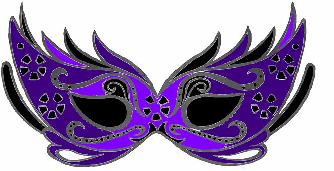 Mask, Eyefold, Black, Venice, Ball