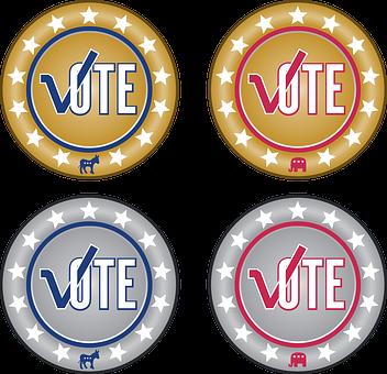 Icon, Button, Internet, Vote, Election