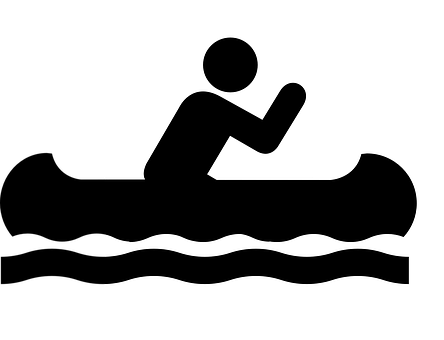 Canoe, Sign, Symbol, Icon, Boat, Water, Activity