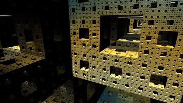 Blocks, Fractal, Sponge, Cube, Square, Geometric