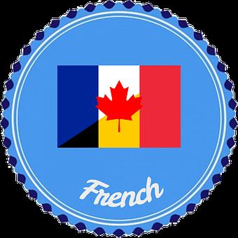 Badge, Flair, French, Language, Flag, France, Belgium