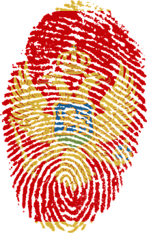 Montenegro, Flag, Fingerprint, Country, Pride, Identity