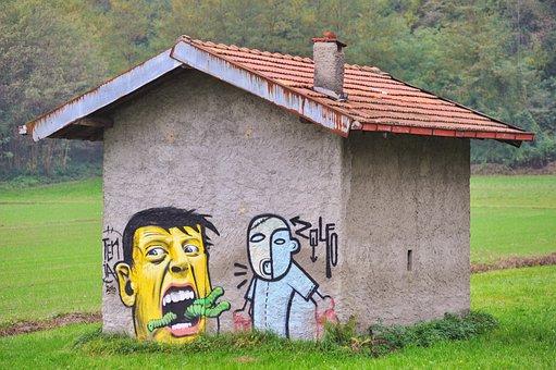 House, Cottage, Casemate, Murals, Prato, Hut, Old