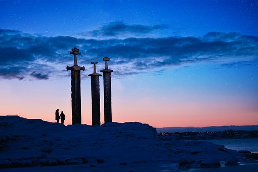 Stavanger, Monument, Vikings, Travel, Viking, Norway