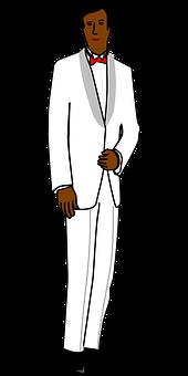 Groom, Tux, Male, Man, White, Tuxedo, Suit, Wedding