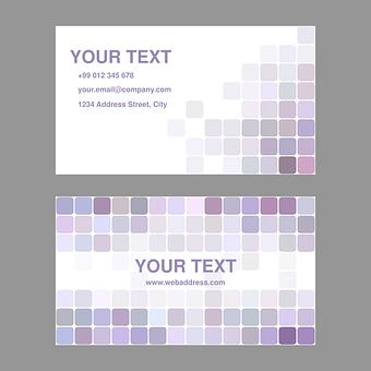 Purple, Light, Business, Card, Design, Template