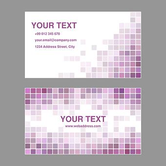 Purple, Business, Card, Design, Template, Background