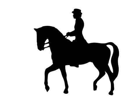 Horse Rider, Horse Riding, Black, Silhouette, Horse