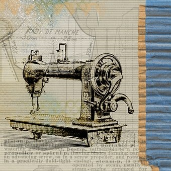 Sewing, Machine, Vintage, Steampunk, Invention, Patent