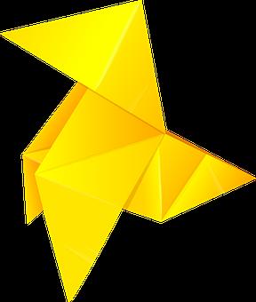 Vector, Origami, Pajarita, Paper, Bird