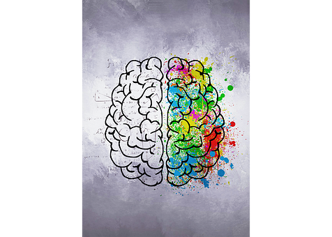 Brain, Colors, Right Hemisphere, Left Hemisphere, Logic