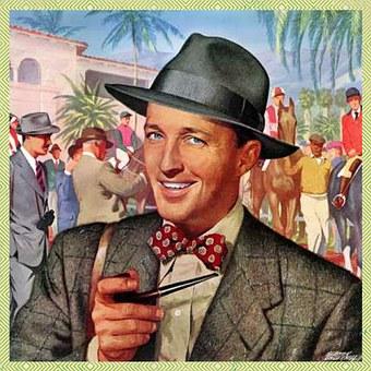 Retro, Man, Pipe, Hat, Style, Suit, Tie, Vintage