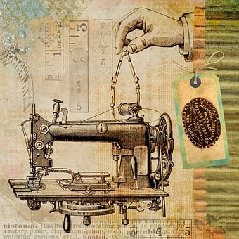 Sewing, Vintage, Machine, Steampunk, Invention, Patent