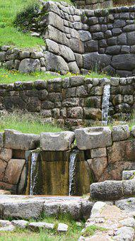 Ruins, Water, Channel, Irrigation, Spring, Cusco
