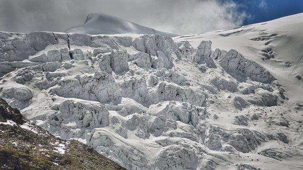 Glacier, Ice, Mountains, Landscape, Cold, Frozen, Snow