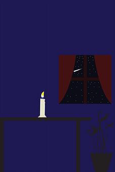 Indoor, Candle, Window, Indoors, Light, Room, Old