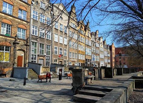 Gdansk, Poland, City, Architecture, Tourism, Sky