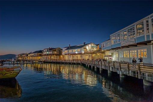 Water, Dark, Pier 39, San Francisco, Reflections