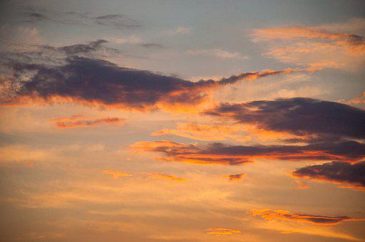 Clouds, Afterglow, Sunset, Sky, Evening Sky