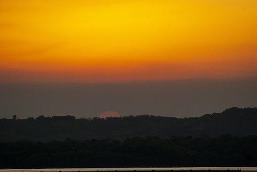 Sunset, Ozarks, Missouri, Landscape, Peaceful, Scenic