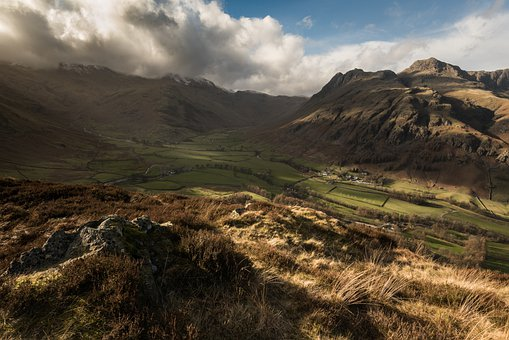 Langdale, Valley, Lake District, Cumbria, Landscape