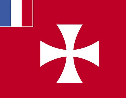 Wallis, Flag, Futuna, Unofficial, Red, Saltire, Field