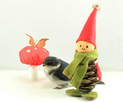 Bird, Elf, Fungus, Fantasy, Mystical