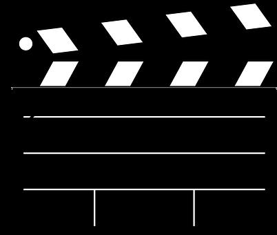 Clipboard, Movie, Film, Clap, Blank, Black, Scene