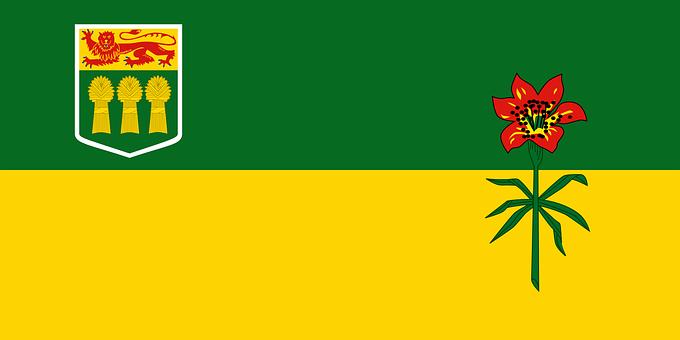 Saskatchewan, Province, Flag, Canada, Prairie