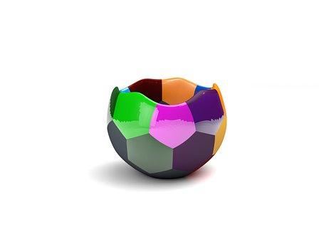 Abstract, Model, 3d, Pot, Bowl, Flowerpot