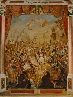 George Cruikshank, William Shakespeare, Globe Theater