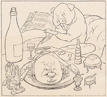 Pig, Drawing, Public Domain, Christmas Eve