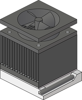 Fan, Dissipator, Cooler, Air Cooling, Computer
