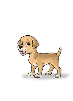 Dog Cartoon, Dog Illustration, Kid Dog