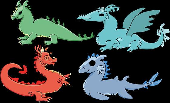 Dragons, Elements, Magic, Fantastic Beings