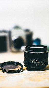 Lens, Camera, Focus, Technology, Film, Vintage, Retro